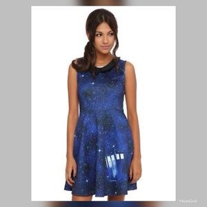 Dr. Who size M blue telephone booth dress